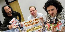 Guido De Bie, Christoph Caulier <br>en Joeri Bombeke: 'De Kouter<br> is de laatste open ruimte in<br> onze dichtbevolkte gemeente<br> en die laten we niet verminken.'<br> Carol Verstraete<br>