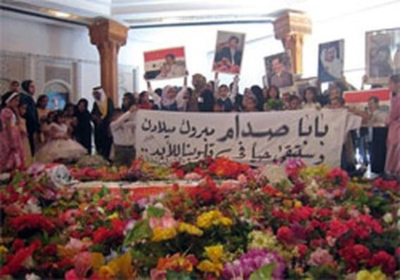 Honderden aanhangers vieren 70ste verjaardag Saddam Hussein