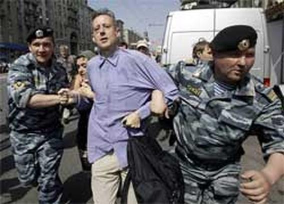Arrestaties bij homo-optocht in Moskou