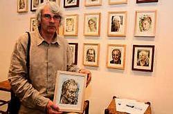 Piet Deceuninck schilderde Tom Boonen naar zijn persoonlijk inzicht.Louis Verbraeken<br>