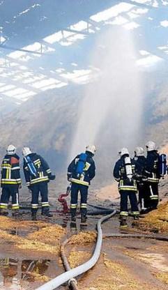 De brandweer van Bree, die hulp moest vragen van de korpsen uit Lommel en Maaseik, moet 24 uur blussen. belga<br>