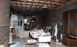 De inboedel van de familie De Wetter-<br>Verbustel werd volledig vernield.<br>Eddy Vuylsteke