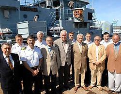 De bijeenkomst van de gewezen commandanten van de Westdiep betekende een definitief afscheid. Op 17 september wordt het fregat uit de vaart genomen.Michel Vanneuville