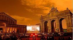 De 'Drive-In Movies' in het Jubelpark in Brussel: een prachtig decor voor een avondje film.rr <br>