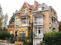 De villa is gebouwd in 'cottage'-stijl.Koen Merens<br>