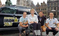 Bert Jammaer, Marc Herremans, Marino Vanhoenacker en Frederik Van Lierde kijken al uit naar zondag. Koen Fasseur <br>