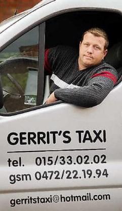 Gerrit Ninite van Gerrit's Taxi kon aan de overvallers ontkomen door het gaspedaal van zijn taxi vol in te drukken. Inge Van den Heuvel<br>