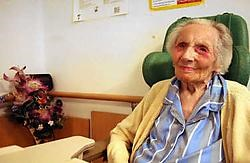 Julia Galand<br> is de derde oudste Belg.<br> Herman Ricour