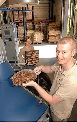 Warm en droog, zo is de werkomgeving van koffiebrander Frederik DanneelsMichel Vanneuville<br>