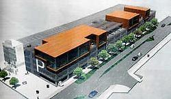 Door de hoge aanbestedingsprijzen twijfelt de NMBS over de bouw van een parkeergarage in de Kerkstraat. Repro nm