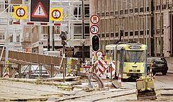 Door de werken aan het Louizaplein en Poulaertplein zal het verkeer er onvermijdelijk in de knoop geraken.Mark Renders<br>