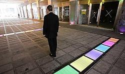 'De gekleurde tegels geven de straat iets uniek', zegt Olivier Dejong van Brussels Business Center.Mark Renders<br>