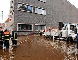 Na de wateroverlast van 24 juli zijn de technische installaties in de kelder van het nieuwe gemeentehuis nog niet hersteld. Michel Vanneuville<br>