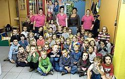 De kinderen van het gemeentelijk kinderopvanginitiatief Okido in Kachtem. Stefaan Beel<br>