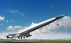 De A2, van het Lapcat-project, is ruim twee keers sneller dan de Concorde en een flink stuk langer dan de A380. Reaction Engines<br>