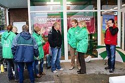 De vakbondsafgevaardigden hielden de GB de hele zaterdag dicht.<br>Emiel Vermeir<br>