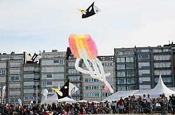 Ondanks het mindere weer was het vliegerfestival 'Passport to Heaven' een schot in de roos. Norbert Minne<br>