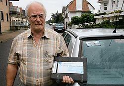 Ludo De Cock van de Minder Mobielen Centrale kreeg van de Brugse rechtbank een veroordeling voor fout parkeren. Peter Maenhoudt<br>