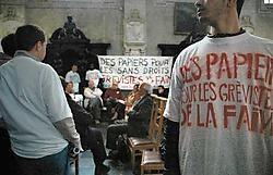 De actievoerders zullen de kerk netjes houden tijdens hun bezetting.Herman Ricour<br>