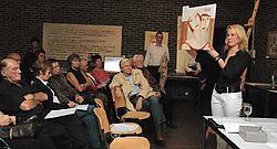 Zowat de helft van de deelnemende kunstenaars zijn zelfs Parkinsonpatiënten. Gert Devocht<br>