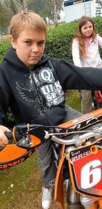 Brent Boileau is bezeten van de motorcross.Yvan De Saedeleer