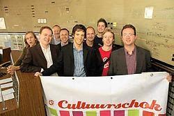De organisatoren van Zijspoor, met de mensen van de NMBS: 'We mikken met ons stadsfestival op jong en oud.'Guy Van Den Bossche<br>