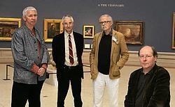 Museum-<br>directeur Robert Hoozee (rechts) en zijn drie Britse adviseurs John Gage, Timothy Hyman en Andrew Dempsey. Frederiek<br> Vande Velde