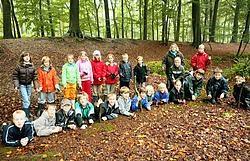 Een dagje samen in het bos stimuleert het groepsgevoel, ervaarden de kinderen van Sint-Medardus.