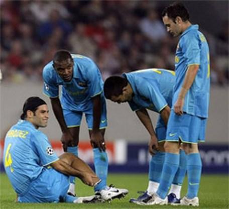 FC Barcelona moet Rafael Marquez maand missen