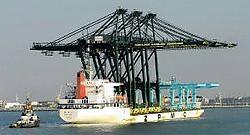 Op tien september werd het schip nog met toeters en bellen onthaald. Michel Vanneuville<br>