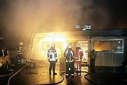 De showroom van Verbist Tuininrichting raakte zwaar beschadigd door de brand. Theo Derkinderen