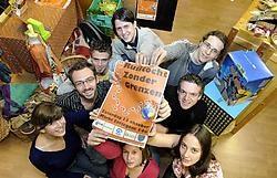 'We rekenen op iedereen', zeggen Yanick Goossens (tweede van links) en zijn medestudenten. David Stockman<br>