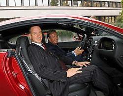 Dirk Van Braeckel in 'zijn' Bentley Continental. Koen Fasseur