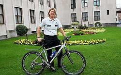 Politie-inspecteur Jill Demeester behaalde bij de dames haar achtste Belgische titel mountainbike voor politiekorpsen.<br>Norbert Minne <br>
