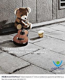 Een van de affiches die de komende weken in de media verschijnen, om de uitgifte van een speciale Child Focus-bevek bekend te maken.<br>