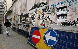 Graffiti blijft een plaag in Brussel.Herman Ricour<br>