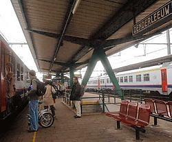 De perrons in het station van Denderleeuw zullen worden verlengd zodat de passagiers minder zullen moeten dringen.Carol Verstraete<br>