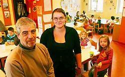 'Deze week hebben we beslist om het aantal opvangplaatsen op te trekken tot 110', zeggen Marc Lammar en Skrallan De Maeyer van de buitenschoolse kinderopvang. Inge Van den Heuvel<br>