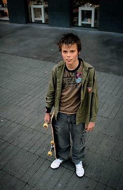 Luka (13) houdt van skaten. Hij werd er voor opgepakt. Katrijn Van Giel