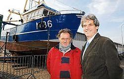 Charles Beuckels (l.) en Geert Vanden Broucke zien nog een toekomst voor de Surcouf.Isabelle Vanhassel<br>