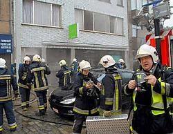 De brandweer van Vosselaar en Beerse ontruimde fitnesscentrum Hi-Tech en de bovenliggende appartementen. Ton Wiggenraad