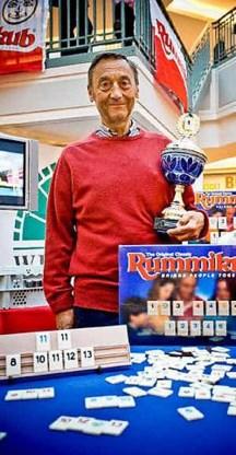 Marc Vermeulen won 495euro door Rummikub te spelen. Wim Daneels<br>
