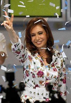 Cristina Fernandez de Kirchner volgt haar man op 10 december op als staatshoofd van Argentinië.reuters<br>