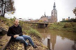 Philippe Liesenborghs in Aarschot: 'Als we niet ingrijpen weet niemand nog hoe de Demer ons leven bepaalde.' Jef Collaer<br>