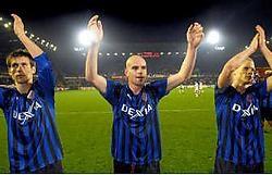 Dusan Djokic (midden) bezorgde Club winst tegen Zulte Waregem én de eerste plaats in de tussenstand.belga<br>