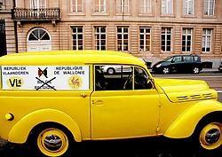 Een Franstalige Vlaming grijpt de gelegenheid aan om te pleiten voor twee republieken.Herman Ricour<br>