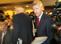 Pieter De Crem is zich bewust van het historische moment. photo news<br>