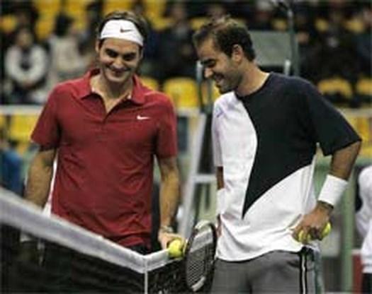 Sampras sterker dan Federer in Clash of Times