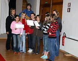 Ook de stem is een instrument, zo ontdekten de leerlingen. <br> Mine Dalemans<br>