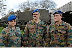 Mario Vangheluwe, Martin Vanhecke en Johan Coulon zijn weer thuis na vier maanden Afghanistan. <br>Michel Vanneuville